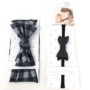 Baby Bling Bows Bundle of 2 Buffalo Plaid + Skinny